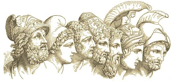 Menelaus. Paris. Diomedes. Ulysses. Nestor. Achilles. Agamemnon.